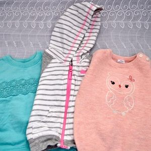 Baby Girls Long Sleeve Carters Tops